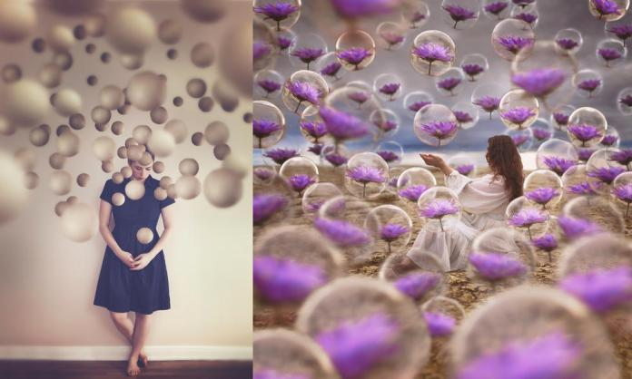 失眠攝影師拍攝超現實照片描繪眼中世界