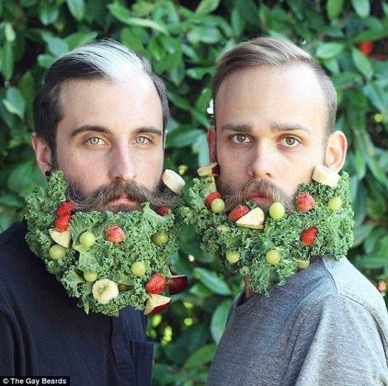 一對好基友的大鬍子藝術,讓你看看什麼是恩愛