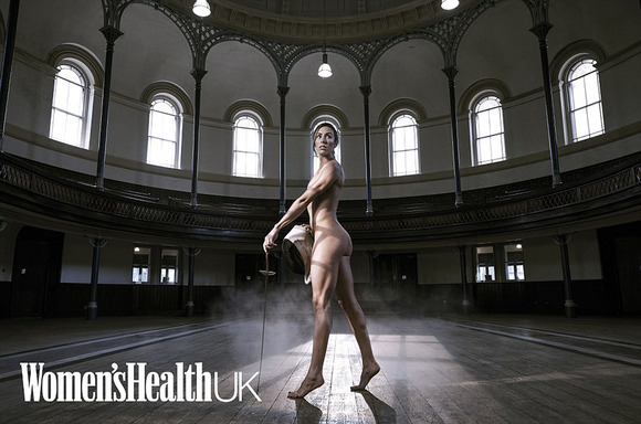 英雜誌拍全裸寫真展現女星力量之美