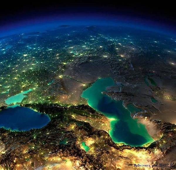 NASA太空拍攝地球夜景,絢爛的令人陶醉。
