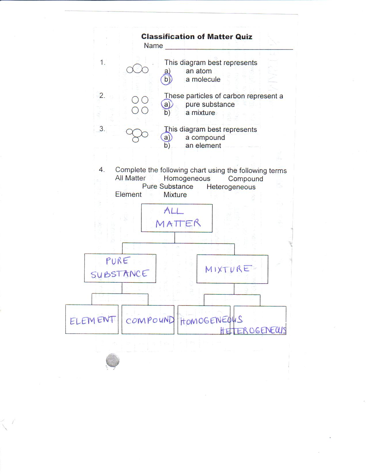 Worksheet Classification Of Matter Worksheet Grass Fedjp Worksheet Study Site
