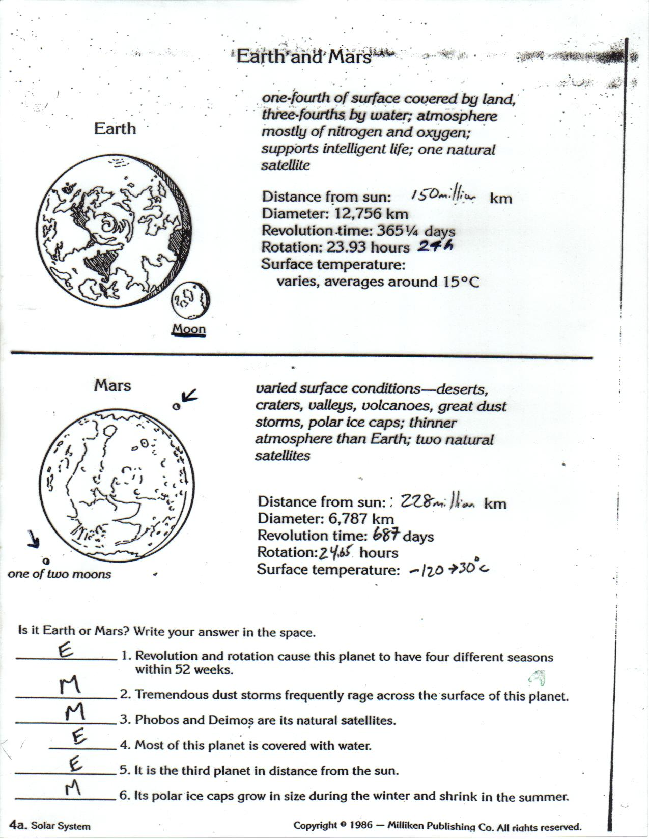 Bill Nye Space Exploration Worksheet Page 4
