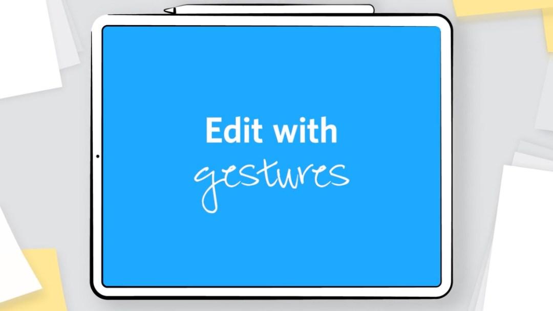 Edit with gesture
