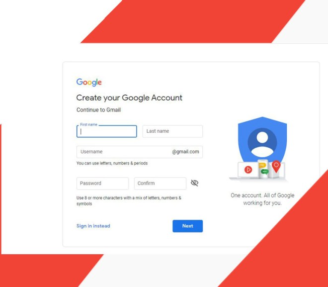 Gmail Sign Up New User Account – Create a Gmail Account | Gmail Sign Up