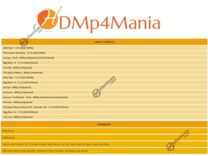 HDMp4Mania - Illegal HD Bollywood, Hindi Dubbed Movies, Indian Web Series Download Website | HDMp4Mania.com