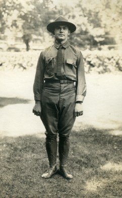 Sergeant Erdman at attention, Circa 1918 (A006439)