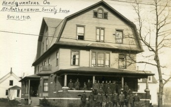 Headquarters Co. at the Antheneaum Society House, November 10, 1918 (A006444)