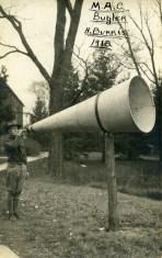M.A.C. Bugler H. Burris, circa 1918 (A006447)