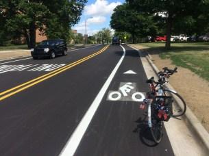 New bike lanes on Chestnut Rd.