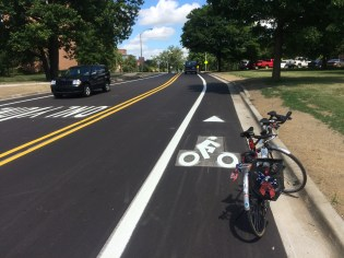 New bike lanes on Chestnut Rd.