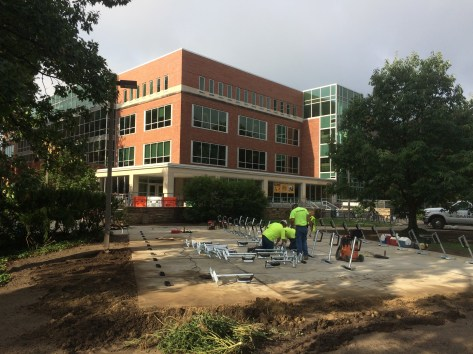 New Main Library bike parking area