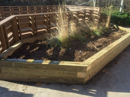 The planter box was rebuilt as well.