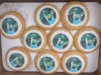 Custom cookies were also prepared for the event.