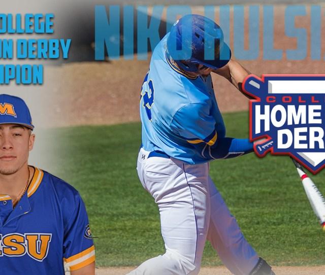 Niko Hulsizer Earns  College Home Run Derby Title