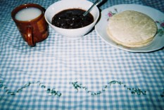 Corn tortillas, black beans, and sweetened corn drink in would sort into the starches category. Image: Provided by Christopher Bielecki.