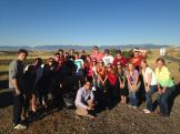 Pike and Chi Omega do a highway cleanup