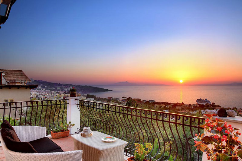 Sorrento Italy Apartment With Panoramic View And Sunset