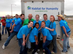 Habitat for Humanity group members pose on a 2012 spring break trip to Laredo, Texas. SUBMITTED PHOTO