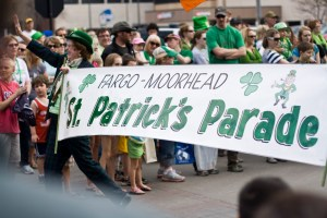 People came together in downtown Fargo on Saturday, March 17, 2012 for the St. Patricks Day Parade, which went down Broadway.