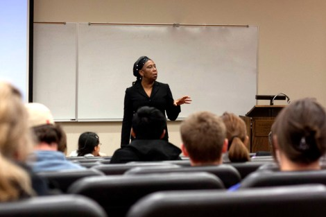 Rose Brewer asks students what social injustices they have encountered at MSUM.