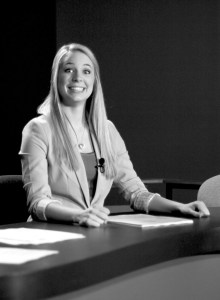 Macy Egeland, an senior anchor for Campus News, was awarded $2,500 for the National Academy of Television Arts and Sciences Don Shelby journalism scholarship.