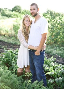 Hannah Sargent and Jonathon Moser pose in their garden. Submitted from Golden Veil Photography