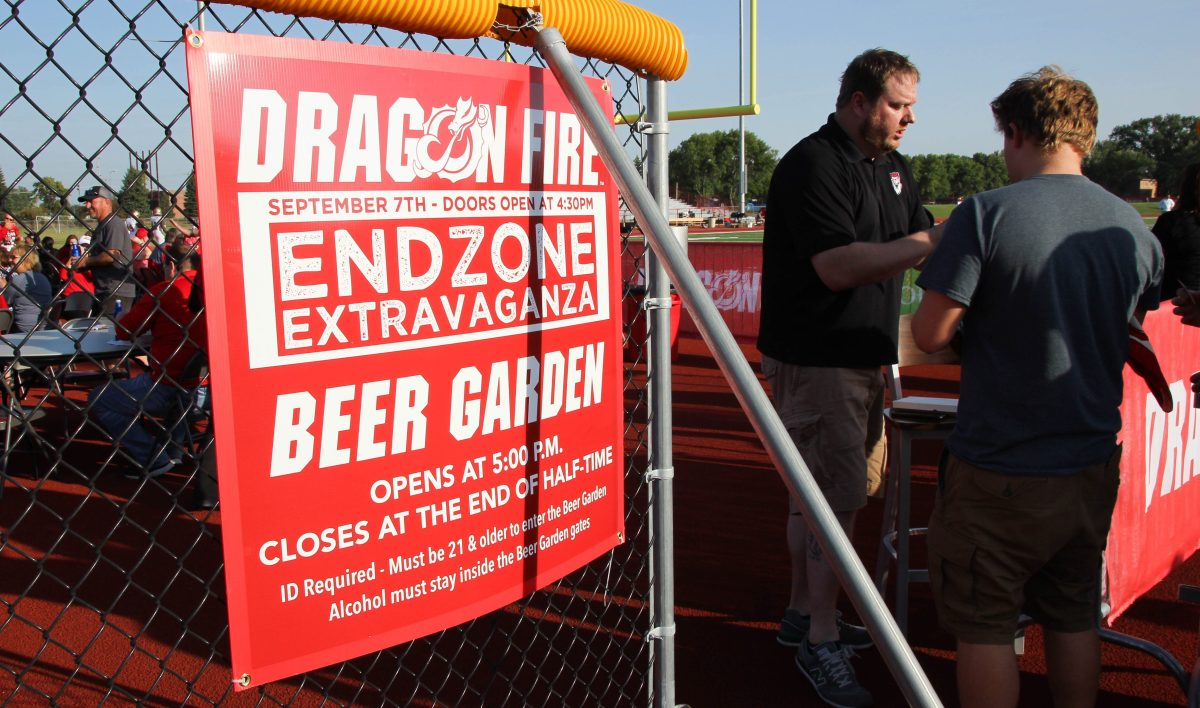 Goal line lager: Endzone Extravaganza is a can-crushing success