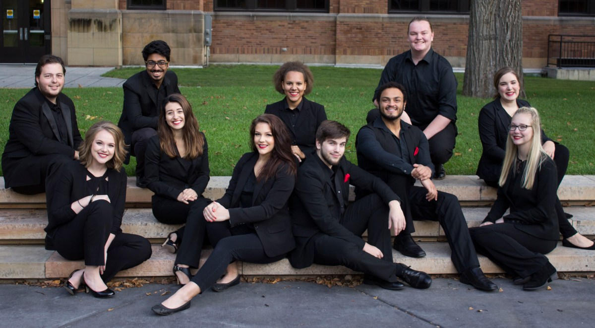 Absence of accompaniment: MSUM's a cappella group in full sing