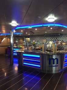The Ferry's buffet station