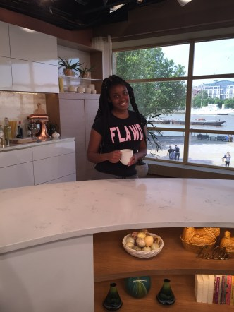 On the cooking set of the studio