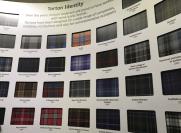 Samples of personalized tartan.