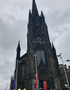 Gothic style architecture cathedral.