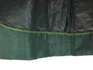 Interior of skirt at hem