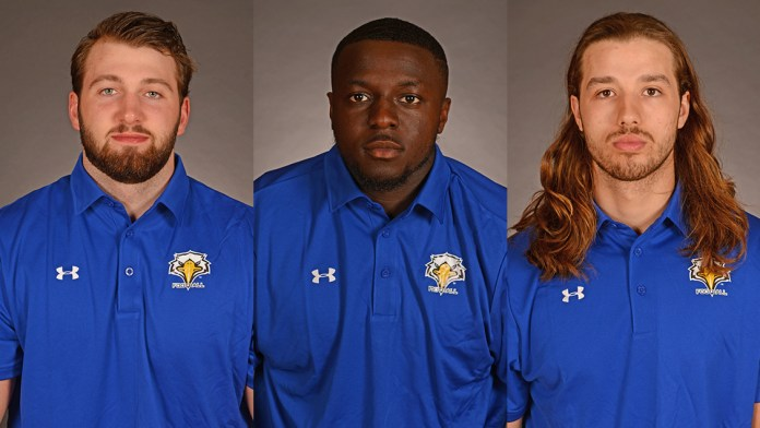 From left: Jake Sutherland, Sayyid Kanu and Bradley Boone.