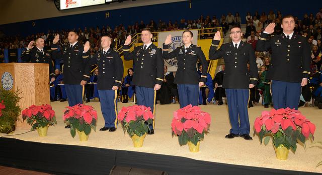 ROTC commissioning fall 2018.