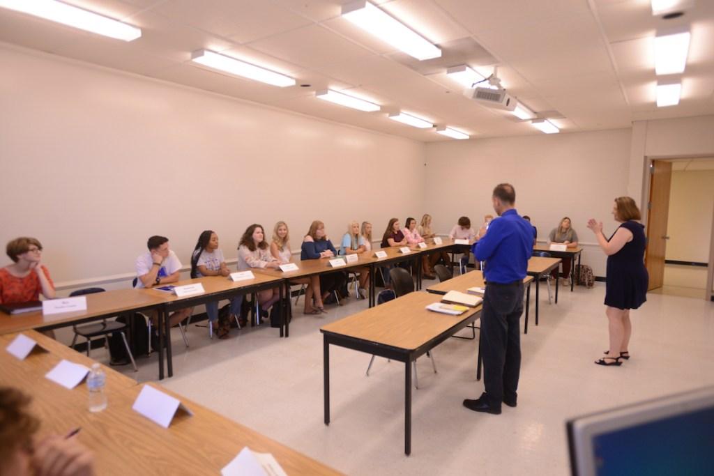 Donovan Ward in First Year Seminar.