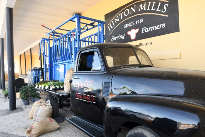 Hinton Mills Farming Supply started as a general country store in its original Plummers Landing location in 1918 and switched to feed mill in 1955 selling mixed feed and fertilizer to nearby farmers.