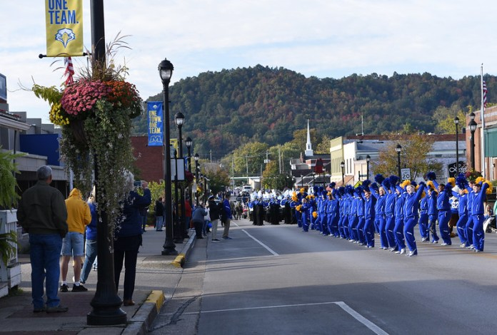 Homecoming 2019 parade on Main Street, Morehead, KY