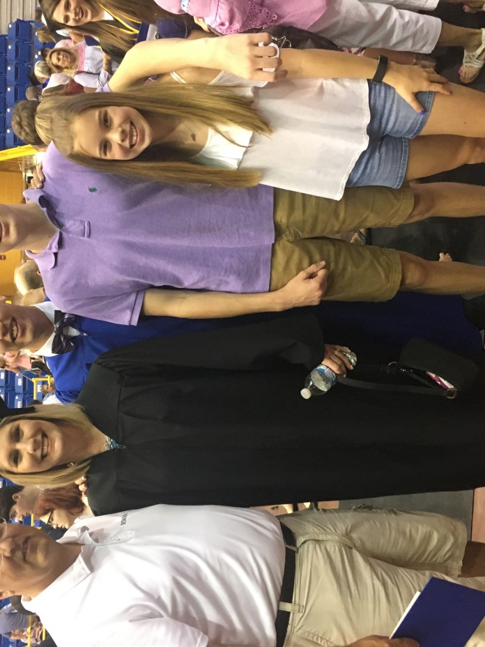 Whelan family at the 2018 MSU commencement ceremony.