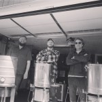 From left: Blake Nickell, Derek Caskey and Nicholas Hollan opened Sawstone Brewing Co. in Morehead last year. The brewery offers a selection of Prohibition-style beers and seasonal selections.