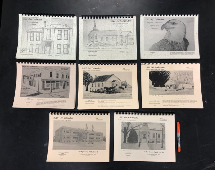 For the past ten years while working at two different schools, Cockrell has raised funds for art programs by selling calendars featuring student artwork.