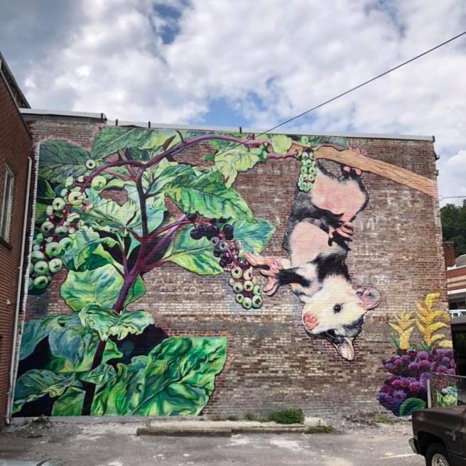 Possum and Poke Mural in Harlan, Kentucky.