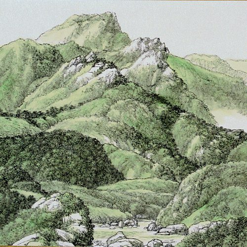 1999, Ink & Color Wash on Xuan Paper, 9⅜ x 10⅝in; 24 x 27cm
