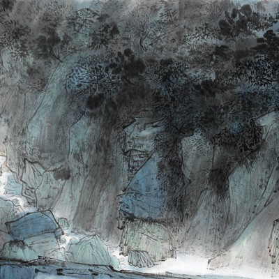 2012, ink on paper, 15 x 53.15 in