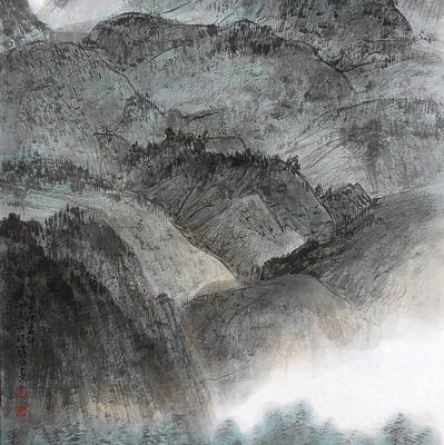 2012, ink on paper mounted as hanging scroll, 53.15 x 27.15 in
