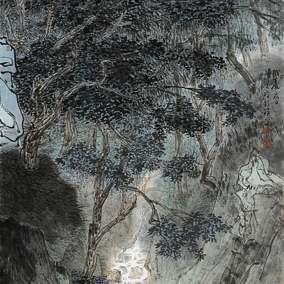 2012, ink on paper mounted as hanging scroll, 53 x 27.25 in