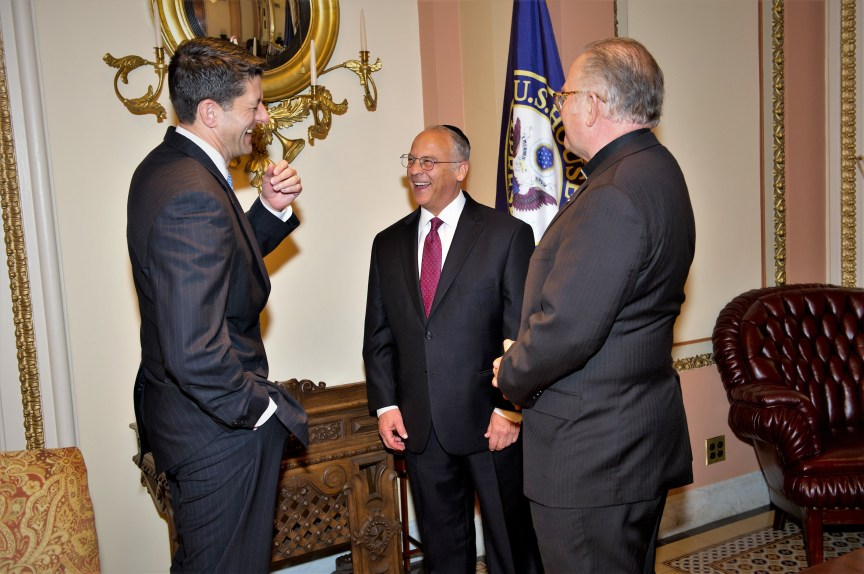 House Speaker Paul Ryan - Rabbi Richard Boruch Rabinowitz, Rev. Patrick J. Conroy, S.J. Chaplain