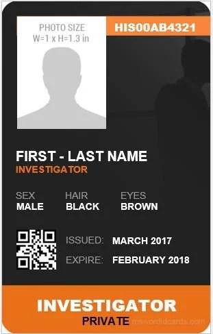 5 Best Investigator ID Card Templates MS Word Microsoft Word ID Card Templates