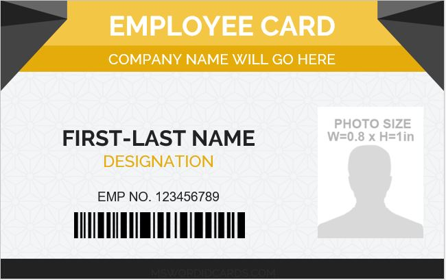 Keep reading to learn how to design and print your own employee id c. 5 Best Employee Id Card Format In Word Microsoft Word Id Card Templates