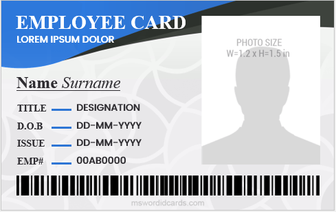Jharkhand forest rights act · division wise status of forest right act. Company Id Card Templates For 2019 2021 Microsoft Word Id Card Templates